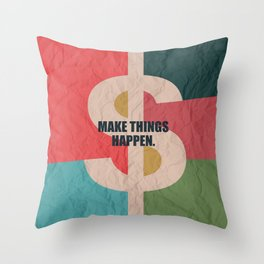 Lab No. 4 - Make Things Happen Corporate Startup Quotes Throw Pillow