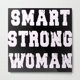Smart strong woman Metal Print