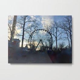 Ferris Wheel Color Metal Print