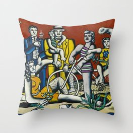 Man in the New Age by Fernand Leger Throw Pillow