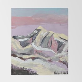 Purple Mountain Throw Blanket