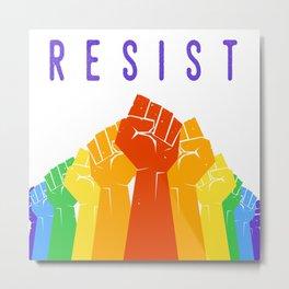 Resist (Pride) Metal Print