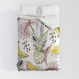 Fruits & leaves Comforters