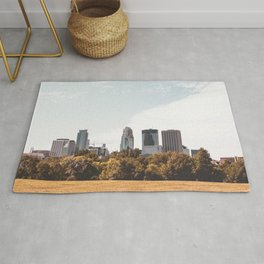 Minneapolis Minnesota Skyline Fall Colors Rug