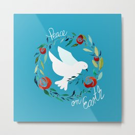 White dove of peace Metal Print