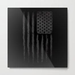Grey American flag Metal Print