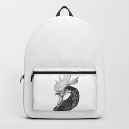 Black and White Rooster Backpack