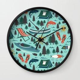 Lake Life - Summer Aqua Wall Clock