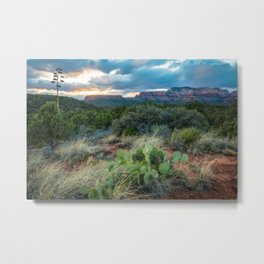 Southwest Serenade - Sunset at Sedona Arizona Metal Print