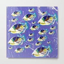 fish family in the open sea Metal Print