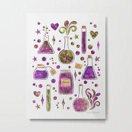 Galaxy Potions - Magenta Palette Metal Print