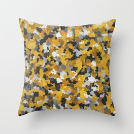Gold atoms Throw Pillow