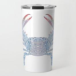 Tribal Blue Crab Travel Mug