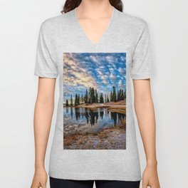 Mornings in the Crested Butte Colorado Mountains   Unisex V-Neck