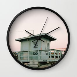 Santa Monica Beach Wall Clock
