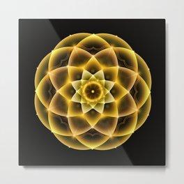 Sacred Gold Mandala Metal Print