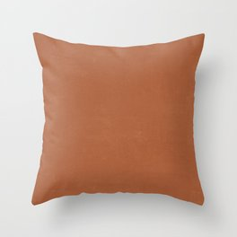 Plain Terracotta with Soft Relaxing Texture Throw Pillow