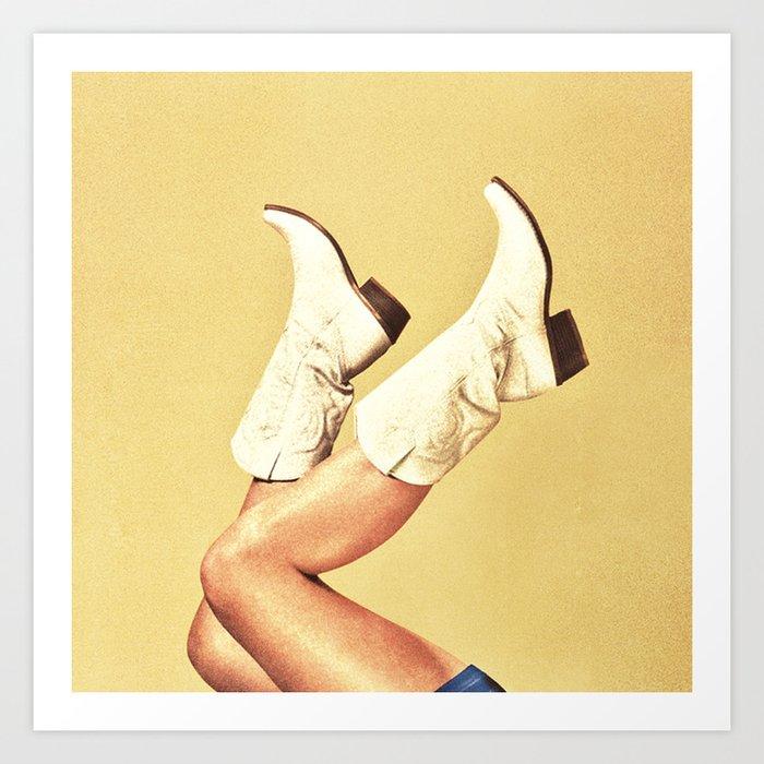 These Boots - Yellow Kunstdrucke
