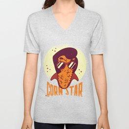 Corn Stars Elvis  Unisex V-Neck