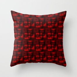 Cubes of red rhombuses and black strict triangles. Throw Pillow