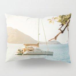 Fitzroy Island Catamaran   Cairns Australia Tropical Beach Sunset Photography Pillow Sham