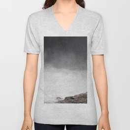 Mist Rising From the Rapids, Churning Water, Fast Moving River Unisex V-Neck
