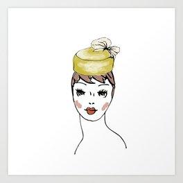 Pillbox Hat Art Print
