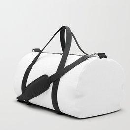 White Minimalist Solid Color Block Duffle Bag