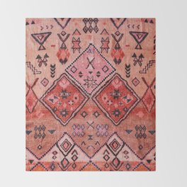 Epic Rustic & Farmhouse Style Original Moroccan Artwork  Throw Blanket
