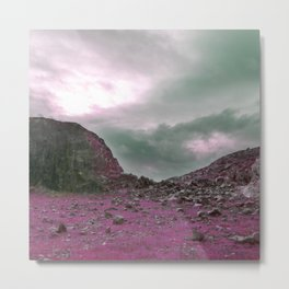 Pink Norway - Norwegian Lapponian Gate Metal Print