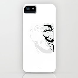 "Unique Tee Saying ""Ideas Are Bullet Proof"" T-shirt Design Mask Suggestion Plan Opinion Solution iPhone Case"