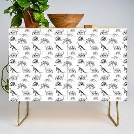 Museum Animals | Dinosaur Skeletons on White Credenza