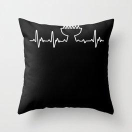 Heart For BBQ Throw Pillow