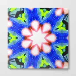 Blue Green Algae Star Metal Print