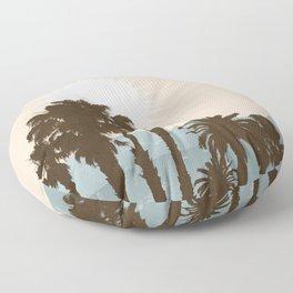 Summer Palm Trees II Floor Pillow