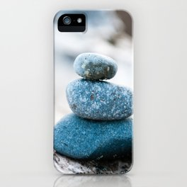 Stone Cairn on Driftwood iPhone Case