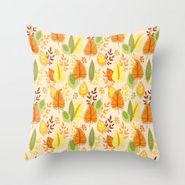 Fall together Throw Pillow