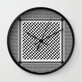 Black Arab Keffiyeh Wall Clock
