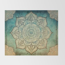 Faded Bohemian Mandala Throw Blanket