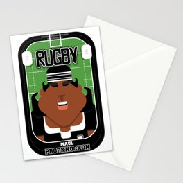 Rugby Black - Maul Propknockon - Aretha version Stationery Cards