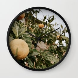 italian countryside lunch Wall Clock