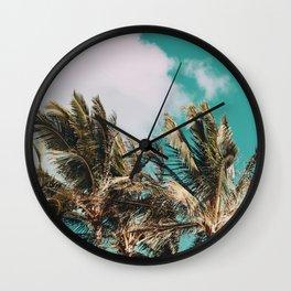 Palm Trees and Island Breeze Wall Clock
