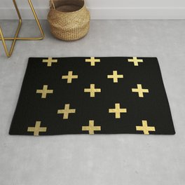 Crosses - gold Rug