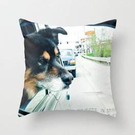 Shot Gun! Throw Pillow