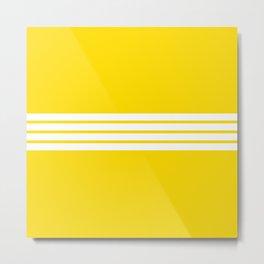 Shigenobu - Classic Retro Stripes Metal Print