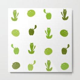 Cats or Cacti? Metal Print