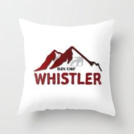 Whistler Canada Ski Snowboard Skiing Snowboarding Resort Blackcomb Throw Pillow
