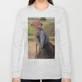 """Camille Pissarro """"Two Young Peasant Women"""" Long Sleeve T-shirt"""