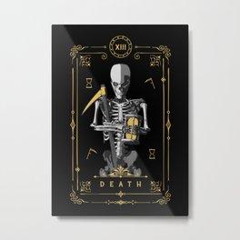 Death XIII Tarot Card Metal Print