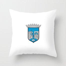 flag of trondheim Throw Pillow